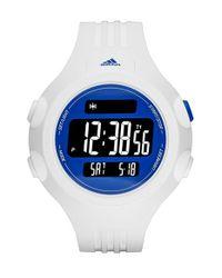 Adidas - Blue 'questra Xl' Rubber Strap Watch for Men - Lyst