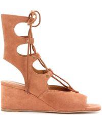 Chloé | Brown Crosta Castoro Sandals | Lyst