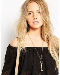 Only Child | Metallic Key Pendant Necklace | Lyst