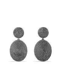 David Yurman | Metallic Cable Coil Double-Drop Earrings | Lyst