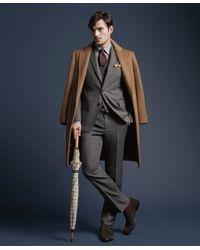 Brooks Brothers | Brown Golden Fleece® Brooksstorm® Westbury Cashmere Overcoat for Men | Lyst
