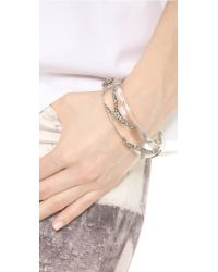 Alexis Bittar - Metallic Crystal Pave Vine Hinge Bracelet - Lyst