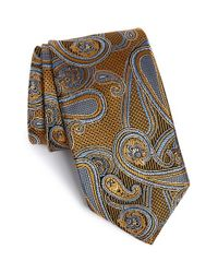 JZ Richards | Yellow Paisley Silk Tie for Men | Lyst