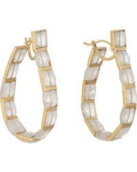 Nak Armstrong | Metallic Women's Gemstone Hoops | Lyst