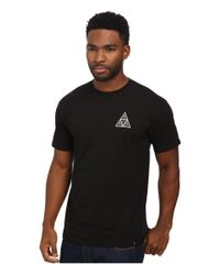 Huf | Black Triple Triangle Identity Tee for Men | Lyst