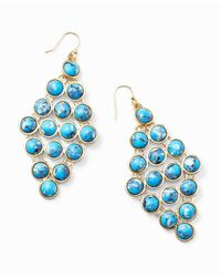 Ann Taylor | Blue Turquoise Hue Chandelier Earrings | Lyst