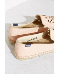 Soludos | Pink Leather Dream Catcher Espadrille Loafer | Lyst