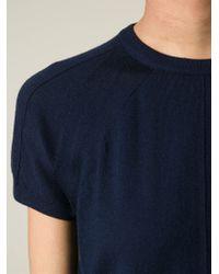 JOSEPH - Blue Panel Knit Top - Lyst