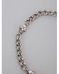 Alexander McQueen - Metallic Skull Chain Wrap Bracelet - Lyst