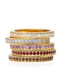 Astley Clarke   Metallic Garnet Infinity Ring   Lyst