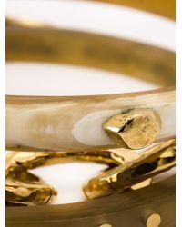 Ashley Pittman - Natural Triple Bangle Bracelet - Lyst