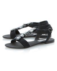 Steve Madden | Black Habtat-s Pony Flat Sandals | Lyst