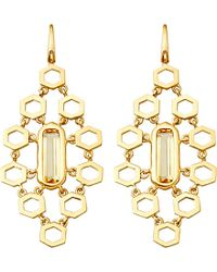 Astley Clarke Metallic 18ct Gold Vermeil Honeycomb Earrings