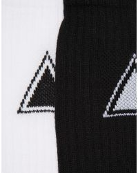 ASOS - Black 2 Pack Sports Style Socks With Triangle Design for Men - Lyst