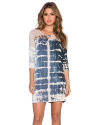 Gypsy 05 - Blue Bamboo 3/4 Sleeve Dolman Mini Dress - Lyst