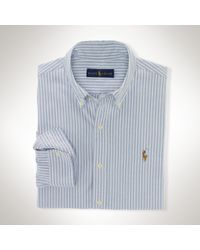 Polo Ralph Lauren | Blue Striped Oxford Sport Shirt for Men | Lyst