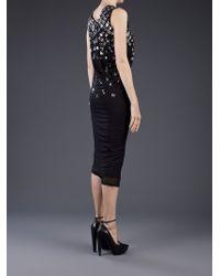 Lanvin Black Gem Embellished Dress