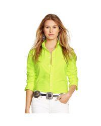 Polo Ralph Lauren - Yellow Custom-fit Cotton Oxford Shirt - Lyst