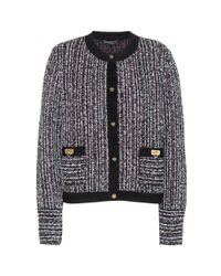Ferragamo - Multicolor Tweed Wool-Blend Jacket - Lyst
