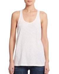 Theory | White Lydra Racerback Tank Top | Lyst