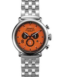Shinola The Runwell Sport Chronograph Orange Dial Watch, 47Mm for men