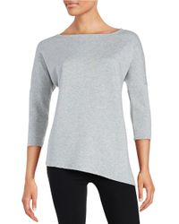 Betsey Johnson | Gray Asymmetrical Sweatshirt | Lyst