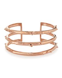 Katie Design Jewelry | Pink Rose Gold Vermeil Trinity Thorn Cuff | Lyst