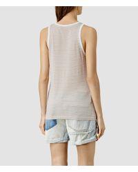 AllSaints | Gray Evis Bar Vest | Lyst