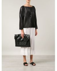 Bao Bao Issey Miyake Black 'rock-1' Shoulder Bag