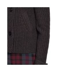 Polo Ralph Lauren Gray Wool-cashmere Sweater Jacket