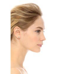 Jennifer Meyer | Multicolor Turquoise Flower Diamond Stud Earrings | Lyst