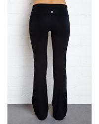 Forever 21 - Black Fold-Over Yoga Pants - Lyst