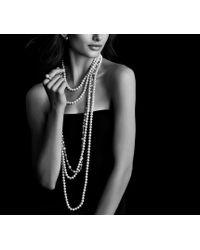 David Yurman - Metallic Pearl Crossover Wide Ring with Diamonds - Lyst