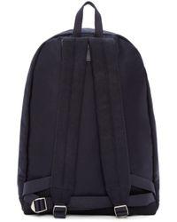 A.P.C. Blue Navy Wool Stefan Backpack for men