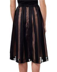Miss Selfridge Black Pleated Organza Midi Skirt