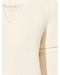 Wes Gordon - White Ribbed Cotton-Blend Sweater - Lyst