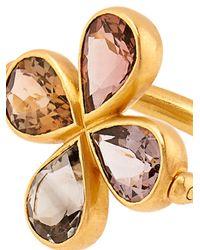 Marie-hélène De Taillac Metallic Tourmaline & Yellow-Gold Swivel Ring