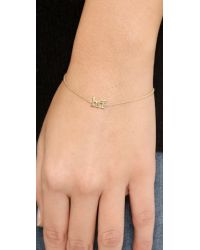 Jennifer Meyer Metallic Bff Bracelet Gold