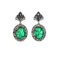 Sevan Biçakci | Green Clover-intaglio Drop Earrings | Lyst