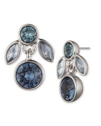 Givenchy | Blue Sugarhill Crystal Drop Earrings | Lyst