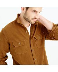J.Crew | Brown Wallace & Barnes Moleskin Workshirt for Men | Lyst