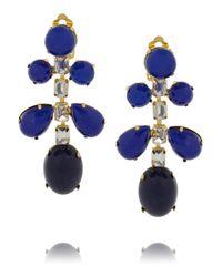 Kenneth Jay Lane | Blue Gold-plated Resin Chandelier Earrings - Gold | Lyst