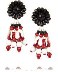 Marni | Black Goldtone Tassel Clip Earrings | Lyst