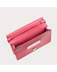 Bally Orange Trixton Women ́s Patent Leather Mini Bag In Pasteque