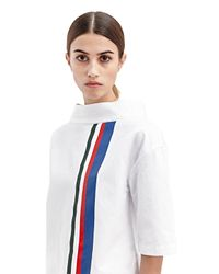 Marni - Green Womens Painted Stripe Sport Jeans Top - Lyst