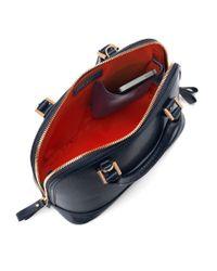Aspinal | Blue Mini Hepburn Leather Bowling Handbag | Lyst