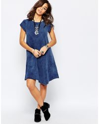 Noisy May Petite - Blue Short Sleeve Dress - Lyst