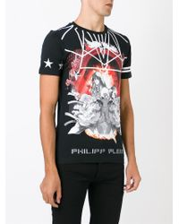 Philipp Plein - Black 'no Fight' T-shirt for Men - Lyst