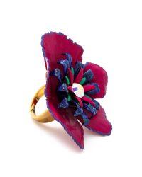 Erickson Beamon Purple Urban Jungle Ring Pink Multi