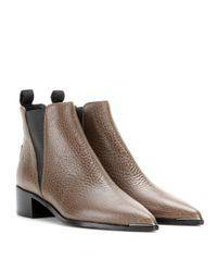 Acne Studios - Black Jensen Leather Ankle Boots - Lyst